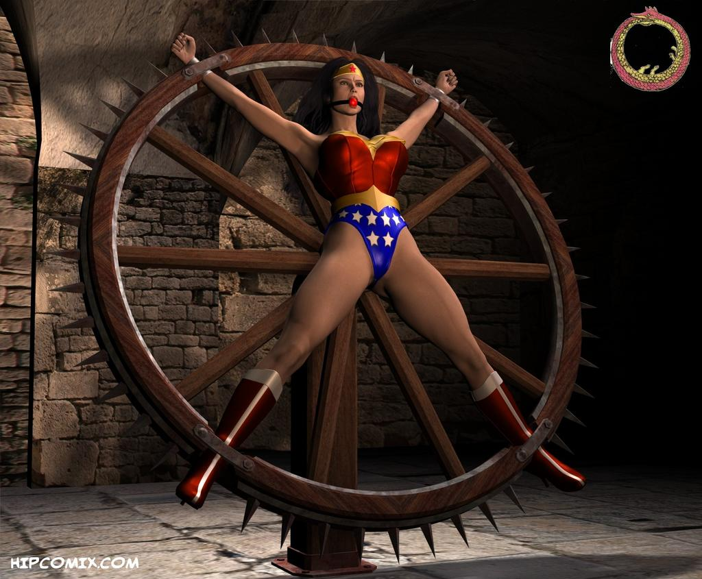 Wonder Woman on the wheel 01.sized cartoon porn games and videso